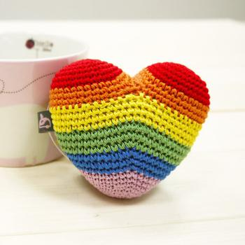 Dogo Rainbow Heart Dog Toy
