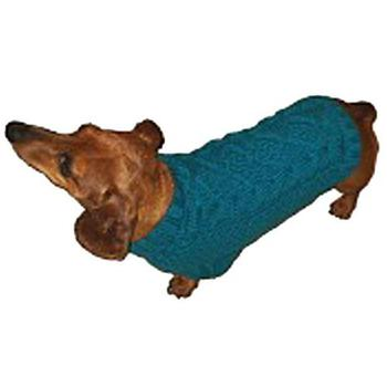 red Knit Dog Sweaters