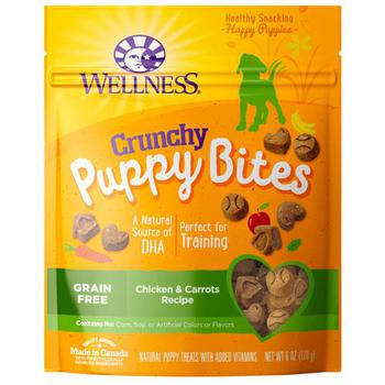 Wellness Grain-Free Crunchy Puppy Chicken & Carrots Dog Treats