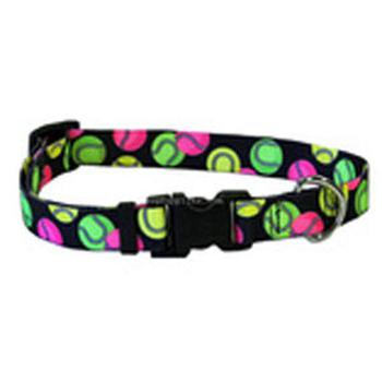 tennis ball design dog collar