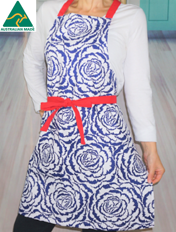 Blue Flower Apron