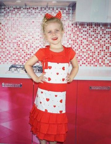 Heart Kids Apron