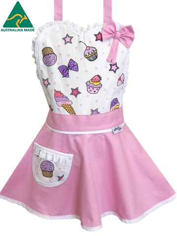 princess cupcake kids apron