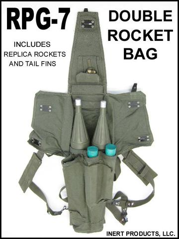 Inert, Replica RPG Rockets and Double RPG Rocket Bag - Complete