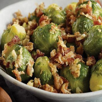 Brussels Sprouts with Bacon & Shallots