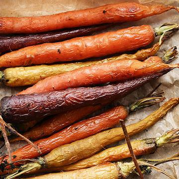 Rainbow Glazed Carrots