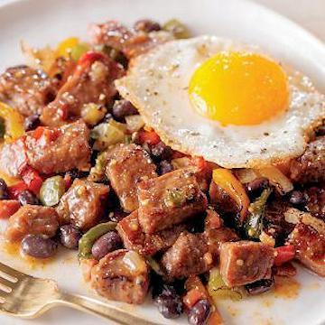 Ranchero Steak and Beans Butcher's Breakfast