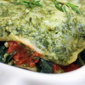 Spinach Lasagna Vegetarian Dinners