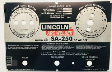 Lincoln Welder Control Plates Amp Decals Miller Welders