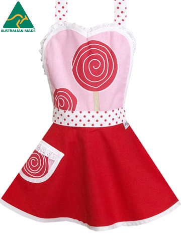 princess lollipop apron