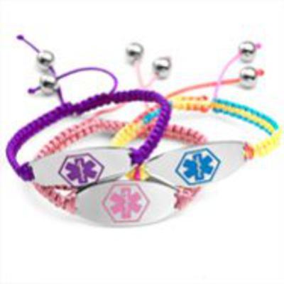 Gold Medical Alert Bracelet Personalised Allergy Bracelet Kids Type 1 Diabetic Medical Jewelry Medical ID Bracelet Women Medical Alert