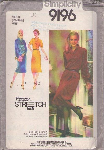 Momspatterns Vintage Sewing Patterns Simplicity 9196 Vintage 70s