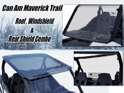 Can Am Maverick Trail/Sport Windshield/Roof/Rear Shield Combo (2600-Combo)