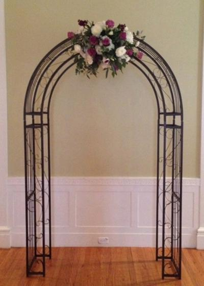 A1a Medium Clic Arch 58 W X 93 H Available In Natural Wrought Iron And Vintage Ivory