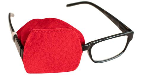 Red Eye Patch for Adult