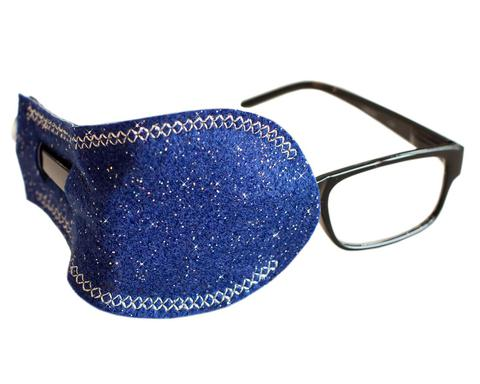 Blue Sparkle Eye Patch for Adult