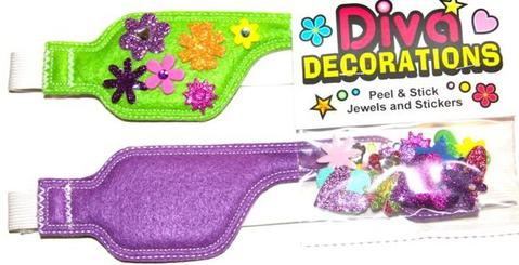 Childrens Diva Decorations Pack with Poggle Eye Patches