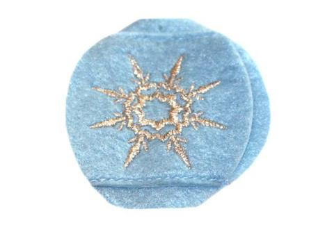 Child Sized Snowflake Eye Patch - Childrens Eye Patch for Glasses