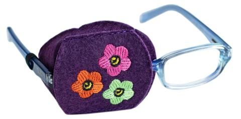 Child Sized Flowers Eye Patch - Childrens Eye Patch for Glasses