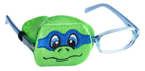 Turtle eye patch with Blue Mask - Childrens eye patch for Glasses