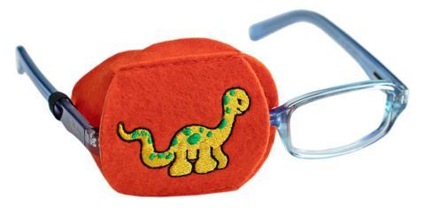 Child Sized Dinosaur Eye Patch - Childrens Eye Patch for Glasses