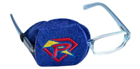Child Sized Blue Power Patch Eye Patch - Childs Eye Patch for Glasses