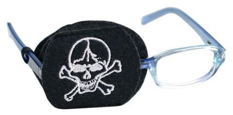 Child Sized Skull Eye Patch - Childrens Eye Patch for Glasses