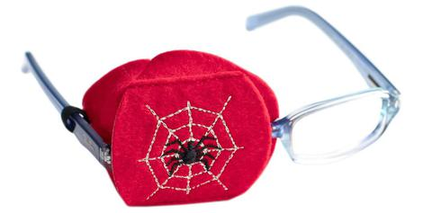 Child Sized Spider Eye Patch - Childrens Eye Patch for Glasses