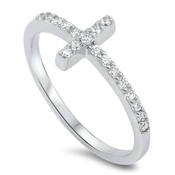 Sterling Silver Crystal Heart Earrings