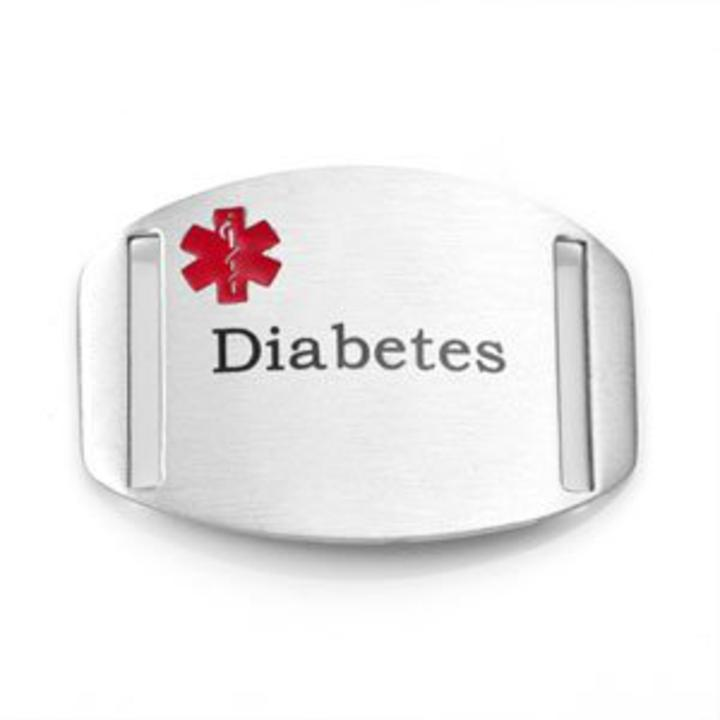 A155 Diabetes Pre Engraved Stainless Steel Medical Id