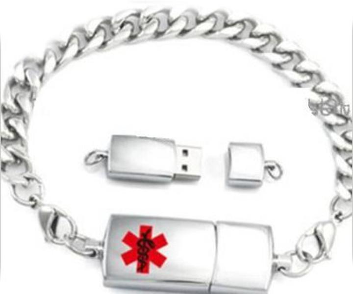 K2k51 Men S Stylish Usb Medi Chip Convertible Bracelet