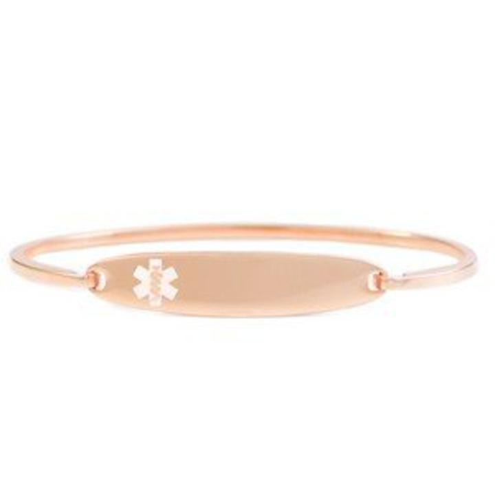 Medical Alert Id Bangle Bracelet