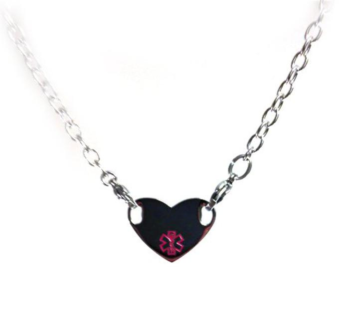 725n heart stainless steel medical id necklace pendant medical id 725n heart stainless steel medical id necklace pendant medical id store aloadofball Images